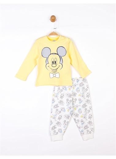 Mickey Mouse   Bebek Takım 17707 Ekru